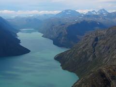 Jotunheimen National Park with lake Gjende.