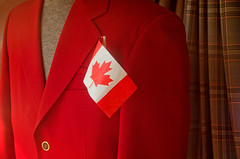Canadian (JeffStewartPhotos) Tags: red toronto ontario canada color colour store colorful display flag coat canadian danforth jacket storefront utata colourful canadianflag tailor brightred veryred danforthavenue
