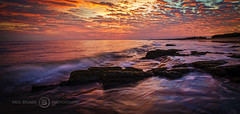 Sunrise at Tannum Sands (Paul Bruner Photography) Tags: beach sunrise australia queensland rockycoastline colorfulsky tannumsands