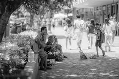 The curious bypasser (Moogul) Tags: beach hawaii waikiki oahu streetphotography 135l 135mmf2 canon135l canoneos5dmarkiii 5dmarkiii 5dmark3