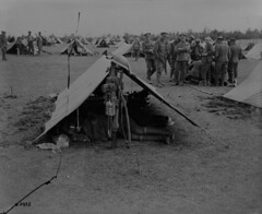 The 22nd (French Canadian) Battalion bivouacked behind the line, Battle of Amiens, August 1918 / Le 22e Bataillon (canadien franais) bivouaque derrire le front  la bataille d'Amiens, en aot 1918 (BiblioArchives / LibraryArchives) Tags: canada france wwi lac worldwari soldiers amiens firstworldwar bac frenchcanadian cec cef soldats premireguerremondiale canadianexpeditionaryforce libraryandarchivescanada departmentofnationaldefence royal22ergiment royal22ndregiment vandoos behindthelines bibliothqueetarchivescanada canadienfranais august1918 22ndbattalion 22ebataillon corpsexpditionnairecanadien ministredeladfensenationale aot1918 bivouaced bivouaque derrirelefront