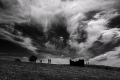 The old railway up devil's Dyke, Brighton (brightondj - getting the most from a cheap compact) Tags: sky bw tree silhouette clouds brighton explore devilsdyke