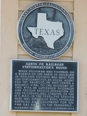 Santa Fe RR Stationmaster's House Marker (jimmywayne) Tags: house santafe texas rr historic marker spearman hansfordcounty stationmasters