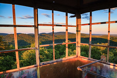 Kane Mountain Firetower at Sunset (PNG441) Tags: sunset summer mountains landscape outdoors adirondacks newyorkstate firetower kanemountain