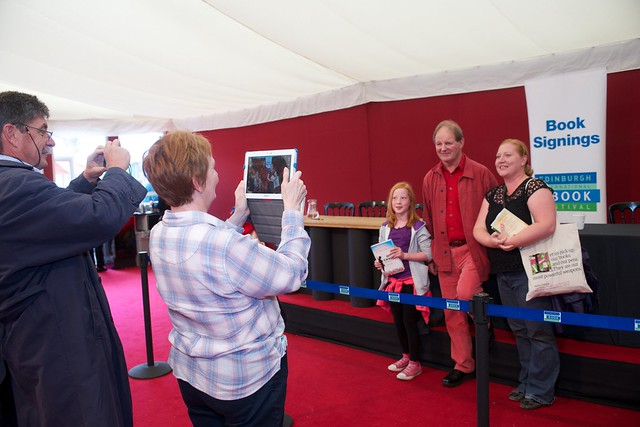 A photograph opportunity with Michael Morpurgo