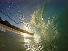 magic light in the morning (bluewavechris) Tags: ocean morning light sea sky sun beach water fun hawaii sand surf magic tube barrel wave maui lip curl swell makena bigbeach knekt gopro oneloa