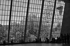 Lattice (MPnormaleye) Tags: city urban bw building window monochrome skyline museum composition 35mm design blackwhite gallery pattern utata