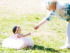 First Birthday (Farm_Boy) Tags: outdoors birthday flower dress grandma grass baby girl washington usa