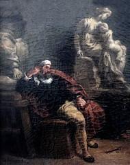 IMG_3353I Eugne Delacroix. 1798-1863. Paris. Michel Ange dans son atelier.  Michelangelo in his studio. 1850.     Montpellier Muse Fabre. (jean louis mazieres) Tags: peintres peintures painting muse museum museo france montpellier musefabre eugnedelacroix