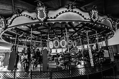 Carousel horse... (pchida) Tags: carousel merrygoround horse blackandwhite photography bnw nikonphotography d5100