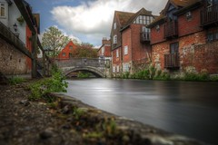 winchester stone bridge (mariusz kluzniak) Tags: mariusz kluzniak europe uk england winchester canal bridge stone oldtown historic architecture long expo motion blur