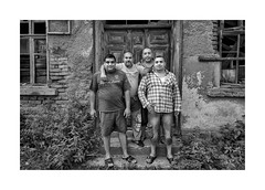 Budies (Jan Dobrovsky) Tags: bw contrast countrylife countryside document grain gypsies kids krasnalipa leicaq outdoor roma rural village