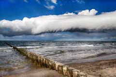 Coast at Baltic Sea (alexanderscholz) Tags: gewitterwolke unwetter thunderstorm coast buhnen buhne küstenschutz