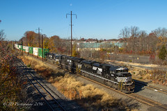NS 20Q @ Oxford Valley, PA (Darryl Rule's Photography) Tags: 20q buckscounty diesel diesels emd eastbound fall freight freighttrain ge intermodal mp5 mv5 morrisville morrisvilleline ns norfolksouthern november oxfordvalley pa pc prr penncentral pennsy pennsylvania pennsylvaniarailroad sun train trains trentoncutoff sd70ace moon tier 4