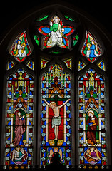 All Saints Church Lench - East Window (David Cronin) Tags: churchlench worcestershire allsaints stained glass stainedglass preedy frederickpreedy crucifixion