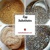 Vegan Egg Substitutes (myhealthydessert) Tags: vegan eggs egg replacer baking chia seeds flax flaxseed