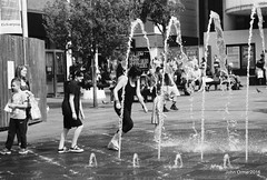 Liverpool August 2016 (Blinkles) Tags: liverpool cityfmtower hats albertdock people fountains blackandwhite film bikes