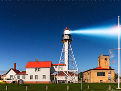 Whitefish Point Light Station by Moonlight (Matt Anderson Photography) Tags: 2016 fall lakesuperior longexposure mattandersonphotography michigan peninsula seasonal upper architecture buildingexterior builtstructure cloudsky colorimage consumerproduct dusk grass greatlakes guidance horizontal lakeshore lighthouse nature nopeople northamerica outdoors pedestrianwalkway photography plant renovation safety sky tranquility tree usa upperpeninsula watersedge moonlit moonlight night stars