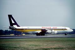 N707ME Boeing 707-327C Arrow Air (pslg05896) Tags: n707me boeing707 arrowair lgw egkk london gatwick