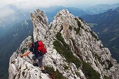 On Jezerska Baba ridge (Vid Pogacnik) Tags: austria slovenia kamnikandsavinjaalps mountain hiking outdoor landscape climbing velikajezerskababa malababa mountainpeak arete ridge mountainridge cligg crag mountainside