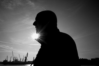 Fuji X70 - Man In Hamburg