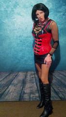 RedLib 9 (Kinkette Pec) Tags: kinkette fetish erotic drag mask masker femalemasking pvc corset kinky pervert perversion highheels rubber latex nylons fishnets crossdressing crossdresser transvestite shemale trans lgbt