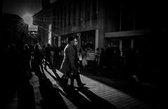Ray of light [Explored] (Matthew Johnson1) Tags: street people illuminated outdoor birmingham walking sunlight rays sunrays