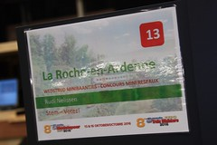 La Roche-en-Ardenne (01) (Rinus H0) Tags: modeltreinen modeltrains modelrailways modelleisenbahn tram steam steamtram strassenbahn stoomtram rudinelissen larocheenardenne ardennes ardennen belgi belgium belge belgique modelspoorexpo leuven 2016 modelspoorexpoleuven2016 layout minilayout diorama station vintage heritage retro miniatuur miniature modelbouw modellieren modelling