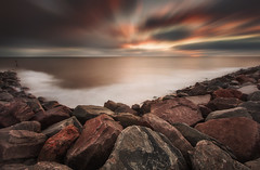 Mappleton (Dave Holder) Tags: mappleton eastyorkshire coast eastcoast seascape rocks water waterblur longexposure landscape leefilters leebigstopper le canon70d clouds blur