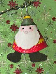 Cone Santa (dog.happy.art) Tags: craft paper cone santa christmas xmas decor decoration garland