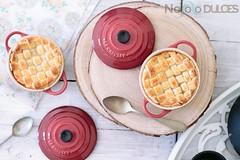 Pastel de mango especiado [Mango pie] (No solo dulces) Tags: receta tarta cake mango especias especiado spicy lecreuset cocotte minicocotte cardamomo vainilla fruta fruit sweet recipe food