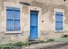Blue door and shutters, the Nièvre (serial_snapper) Tags: france building républiquefrançaise nièvredépartement bourgognefranchecomtérégion ciez bourgognefranchecomté fr