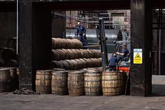 Loading Whisky Barrels at Deanston Distillery (IceNineJon) Tags: unitedkingdom scotland stirlingshire greatbritain deanston photography canon5dmarkiii europe deanstondistillery stirling 5dm3 britain burnstewartdistillerslimited uk barrel