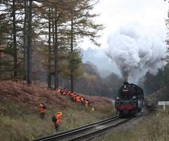 The orange army (feroequineologist) Tags: 76038 76079 76084 levisham levishamstation northyorkshiremoorsrailway steam railway train nymr