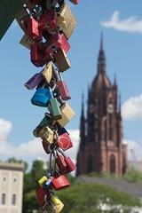 a cascade of loving promises (diminoc) Tags: frankfurt germany padlocks love romance romantic depthoffield cathedral bridge streetphotography