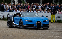 Chiron (Raph/D) Tags: bugatti chiron w16 turbo molsheim ettore alsace france french marque brand luxe luxury exclusive expensive supercar hypercar performance rare rich chantilly arts elegance 2016 concours blue bleu two tone canoneos7dmarkii canon eos 7d mark ii lseries l series ef70200mmf28lusm catchy colors car sportscar coupe vw group 420 kmh speed fast record 1500 bhp power most superlative louis veyron supersport vitesse ksa saudi arabia customer client sold stock million dollar euro