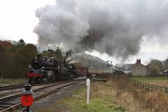 Standard departure (feroequineologist) Tags: 76084 76038 76079 railway train steam levisham levishamstation northyorkshiremoorsrailway nymr
