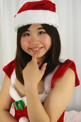 Swimsuit? Silly Santa. Smile. (emotiroi auranaut) Tags: girl cute adorable sweet pretty humor funny lovely teen teenager teenage charm charming christmas xmas holiday delightful seasonal red white green attractive costume japan japanese asia asian model cosplay