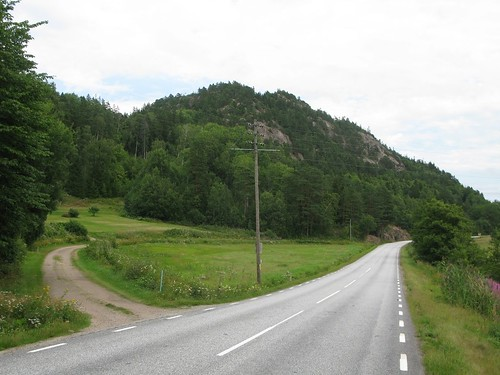Furulund. Road 174 between Brygge and Bärfendal 2013