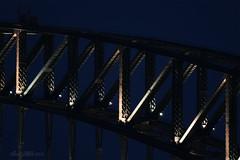 Bridge at Blue Hour (13/36 Sydney Harbour Bridge) (astrogirl969) Tags: fujifilm samyang500mmf63mirror bluehour balmaineast lookesavenuereserve evening nikcolorefex4 architecture adaptedlens kiponeosfxadapter postprocessed sydneyharbourbridge 5faves 1000views xe1