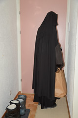 Slave girl in summer outfit (Buses,Trains and Fetish) Tags: slave girl summer outfit warm hot fur anorak burka chador hijab niqab boots sweat torture