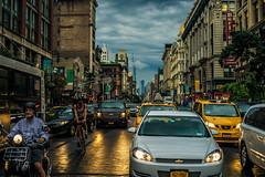 Rainy Manhattan evening (Arutemu) Tags: america american a7r us usa unitedstates urban nyc nikon ny newyork newyorkcity manhattan city cityscape sony sonya7r ilcea7r ilce mirrorless 50mm f14 primelens evening nuevayork manualfocus street scene