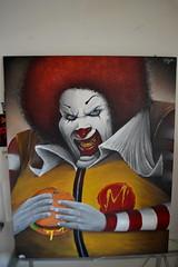 depro (DeproTSC) Tags: depro tsc graffiti clown mcdo spray acrylic canvas toile expo prode new art