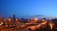Beijing - Traffic (cnmark) Tags: china beijing chaoyang district 3rdringroad airportexpressway street road light trails streams dusk blue hour night nacht nachtaufnahme noche nuit notte noite blaue stunde 中国 北京 东三环路 机场高速公路 三环桥 ©allrightsreserved