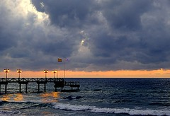 Banderas (camus agp) Tags: pier embarcadero pantalan espaa mediterraneo nubes farolas marbella hotel viento banderas