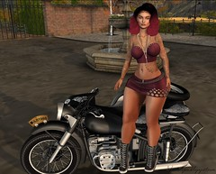 Biker_Babe (Elena Amina Aristotle (Rachel Acoustic)) Tags: sad november 3 tattoo mania pacagaia creations bf accessories belleposes sintiklia hair arise lost found and
