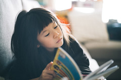 Sunday Morning Read. (MichelleSimonJadaJana) Tags: color sony ilce7rm2 α a7rii a7r ii full frame thirdpartylens manual fullframe voigtlander vme adaptor fe mount leica 50mm f14 summilux m summiluxm asph nex vsco documentary lifestyle snaps snapshot portrait childhood children girl girls kid jada jana china 中国 shanghai 上海