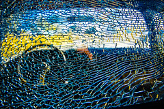 cracked tho not shattered I keep it together (goodrich781) Tags: blue cracked patterns texture oldtruck abstract