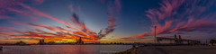 port Adelaide River Industrial Sunset 2 (johnwilliamson4) Tags: adelaide blue industrial outdoor panorama pink portadelaideriver red sky southaustralia water yellow reflections australia