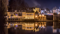 Mitre Hotel Molesey (Colin_Evans) Tags: hamptoncourt night river hotel reflection water thames refletions hotal archtecture